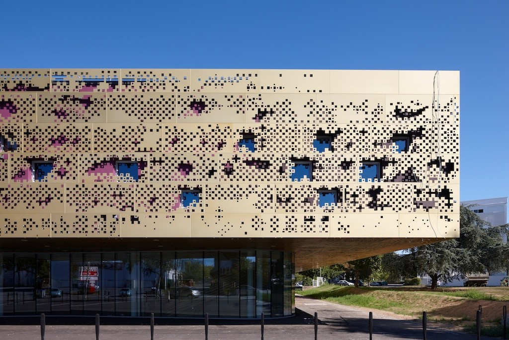 Perforated Skin Facade Cnc Sheet Services اکوآرک